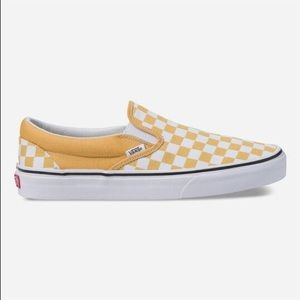 Vans Classic Slip-On Checkerboard Ochre Sneakers